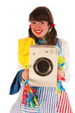 Happy housewife Royalty Free Stock Photography
