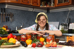 Happy housewife royalty free stock image