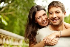 Happy hug Stock Photography