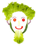 Happy human head made of vegetables Royalty Free Stock Photos