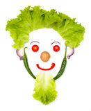 Happy human head made of vegetables Royalty Free Stock Photo