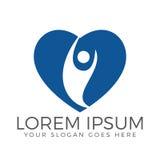 Happy Human heart shape logo design. Stock Image