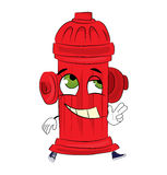Happy hydrant cartoon Stock Images