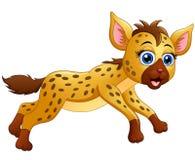 Happy hyena cartoon running Stock Images