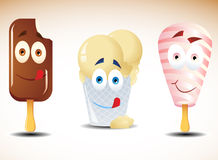 Happy ice creams Royalty Free Stock Photos