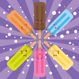 Happy Ice Pop Stock Images