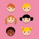 Happy icons Stock Photos
