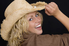 Happy In A Hat Royalty Free Stock Photo