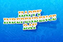 Happy Independence Day. Illustration of happy Independence day background Stock Photos