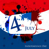 Happy Independence Day 4th of July. Abstract background and sticker cards in vector format, EPS 10 Stock Photography