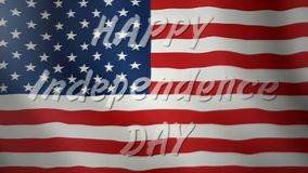 Happy Independence Day in America stock video