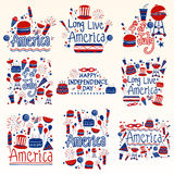 Happy Independence Day of America Holiday and Festival wishing and greetings Stock Photo