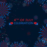 Happy Independence Day of America Stock Photography