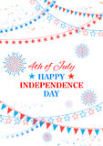 Happy Independence Day of America Royalty Free Stock Photography