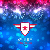 Happy Independence Day backdrop Stock Image