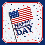Happy independence day background with confetti. Vector Royalty Free Stock Photography