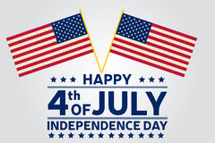 Happy Independence Day background template. Happy 4th of july poster. Happy 4th of july and American flag. Patriotic banner. Vecto Stock Images