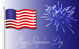 Happy Independence Day background, 4th of July Stock Photo
