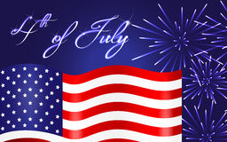 Happy Independence Day background, 4th of July Royalty Free Stock Image