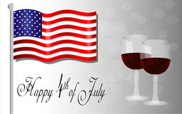 Happy Independence Day background, 4th of July Stock Image