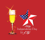 Happy Independence Day background, 4th of July Stock Photos