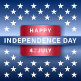 Happy independence day background, 4th of July. Independence day background, 4th of July. Banner on top of blue background with stars. Vector illustration Royalty Free Stock Image