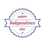 Happy Independence Day badge on white. Eps 10 file, easy to edit Stock Photos