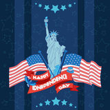 Happy independence day banner. Flat illustration Stock Photo