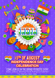 Happy Independence Day banner Stock Image