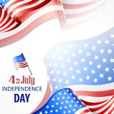 Happy Independence Day banner with 4th july text. For independents day celebration. Vector illustration Stock Illustration
