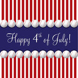 Happy Independence Day!. Baseball theme 4th of July card in vector format Royalty Free Stock Photo
