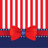 Happy independence day with Bow ties Royalty Free Stock Photos