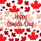 Happy Independence Day!. Happy Canada Day card in  format Royalty Free Stock Photo