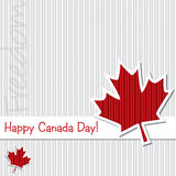 Happy Independence Day!. Happy Canada Day card in  format Stock Photography