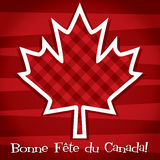 Happy Independence Day!. Happy Canada Day card in vector format Royalty Free Stock Photography