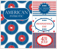 Happy Independence Day card background america holiday illustration. Happy Independence Day flag cadr of USA with text background america holiday illustration stock illustration