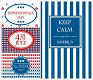 Happy Independence Day card background america holiday vector illustration. Happy Independence Day flag cadr of USA with text background america holiday vector royalty free illustration