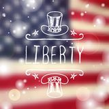 Happy Independence Day Card Stock Photography