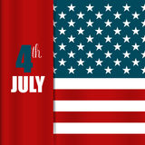Happy independence day card, 4th of July, Vector abstract backgr Royalty Free Stock Photography