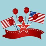 Happy independence day card United States of America. American F Royalty Free Stock Images