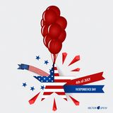 Happy independence day card United States of America. American F Stock Photo