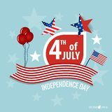 Happy independence day card United States of America. American F Stock Image
