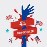 Happy independence day card United States of America. American F Royalty Free Stock Photos