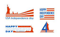 Happy independence day card United States of America. American Flag paper design, vector illustration. Stock Photo