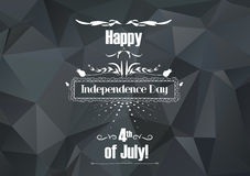 Happy independence day card United States of America, 4 th of July Royalty Free Stock Image