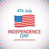 Happy independence day card United States of America, 4 th July Royalty Free Stock Photo