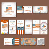 Happy independence day card United States of America, 4 th July Stock Image