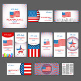 Happy independence day card United States of America, 4 th July Stock Photo
