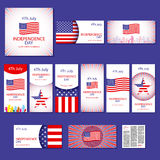 Happy independence day card United States of America, 4 th July Royalty Free Stock Photography