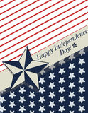 Happy Independence Day card Stock Image